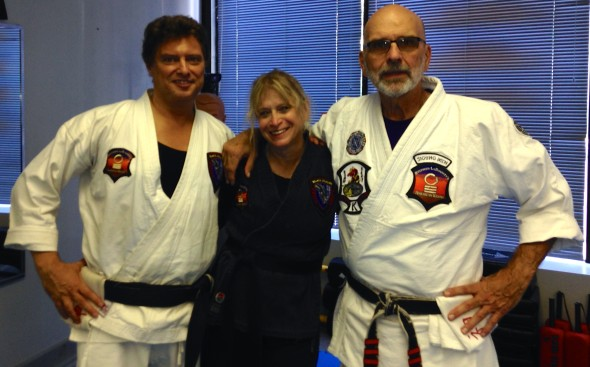 Kenpo lineage Left to right - Steve Cordaro- Anne Moskoviz - Sigung Stephen Labounty