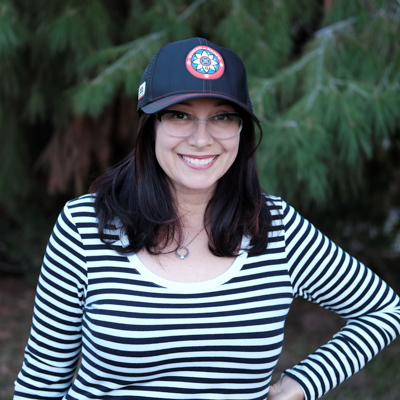 Andree sporting the new Kenpowomen Trucker style hat.